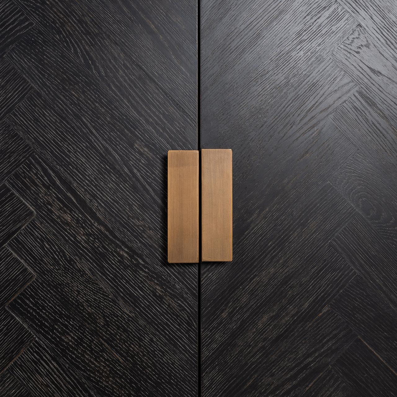 Dressoir Blackbone Brass 4-deuren + open vak (Black)