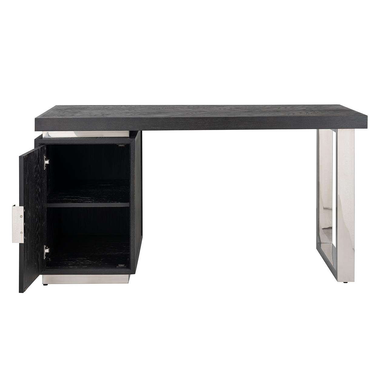 Bureau Blackbone silver 1-deur (Black)