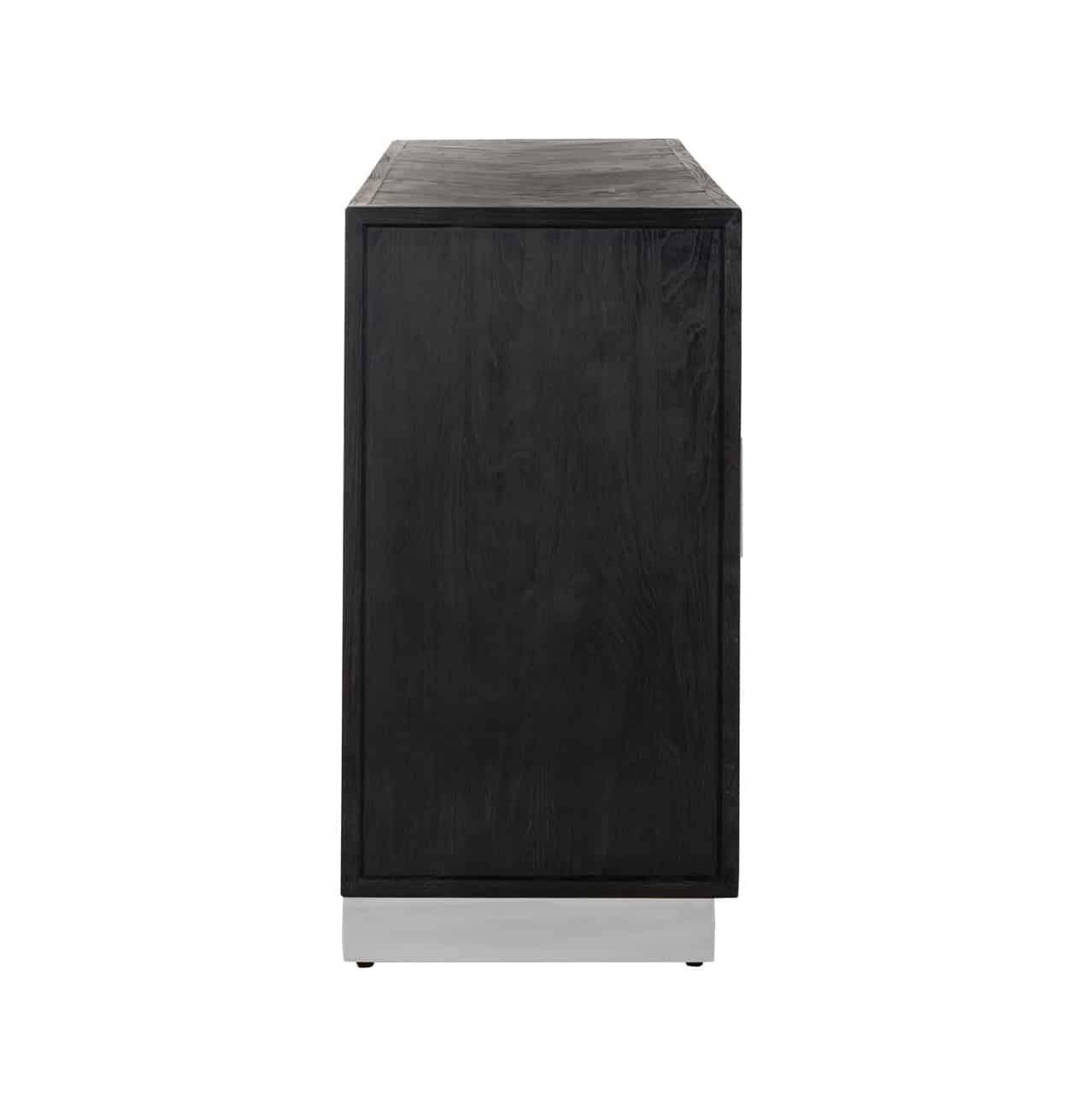 Dressoir Blackbone silver 4-deuren (Black)