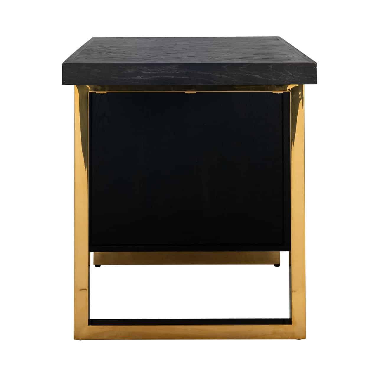 Bureau Blackbone gold 1-deur (Black)