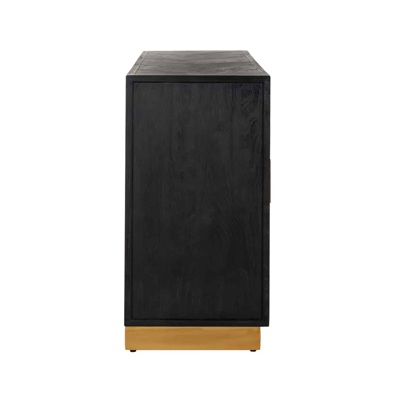 Dressoir Blackbone gold 4-deuren (Black)