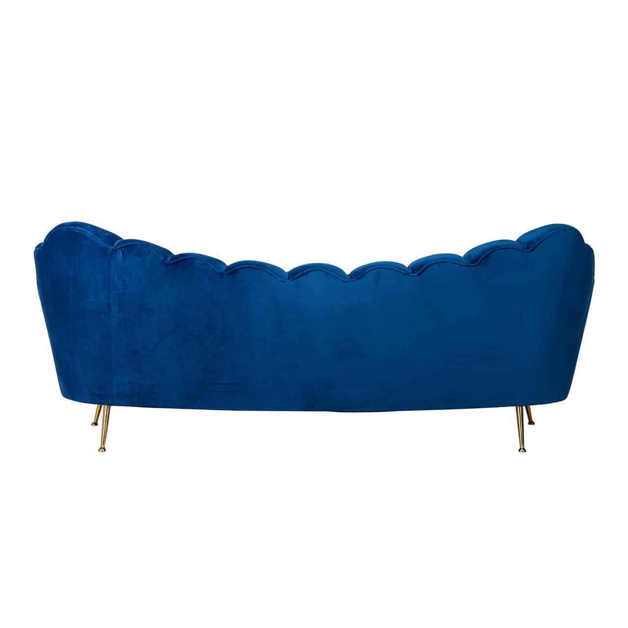 Bank Cosette 3-zits Blue Velvet / gold (Quartz Blue 611)